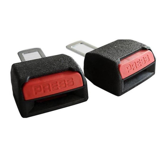 MOONAR® Seat 2pcs voiture universel ceinture Clips Extender, Voiture de sécurité Band Buckles