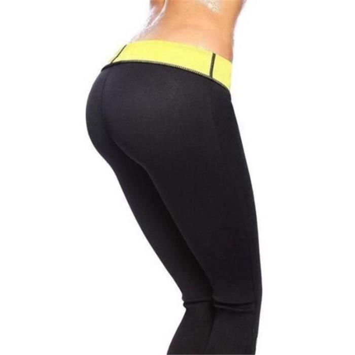 Unisexe Pantalons Fitness Abdominale Amincissant Gaine Sudation Intensive Sauna Minceur Sportif Santé
