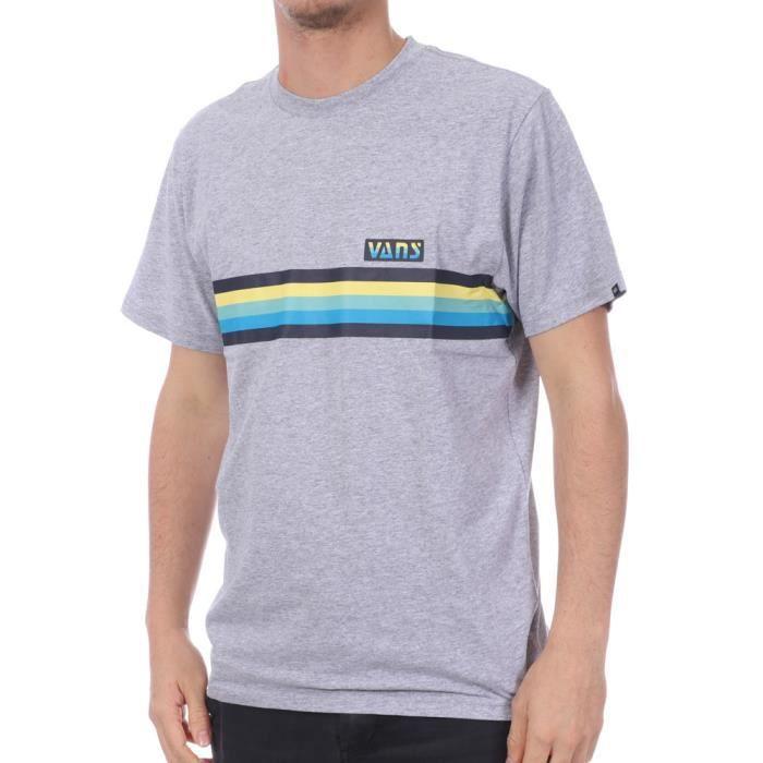 T-shirt Gris Homme Vans MN Multi Stripe