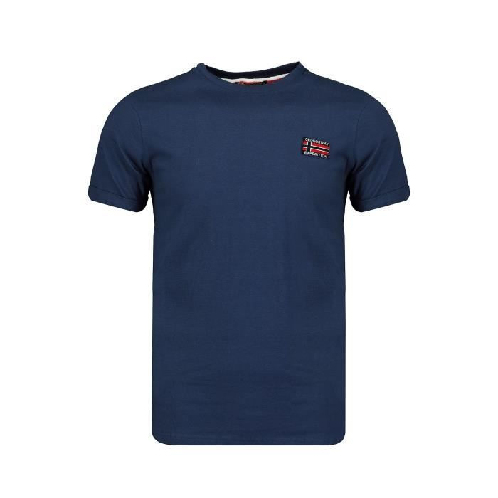 Tshirt Homme Geographical Norway Jaltimore Marine