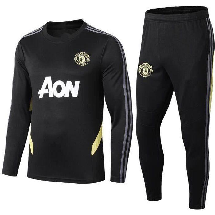 Survêtements Foot Homme Manchester United - Maillot Foot Homme Survêtements Foot Noir - XL