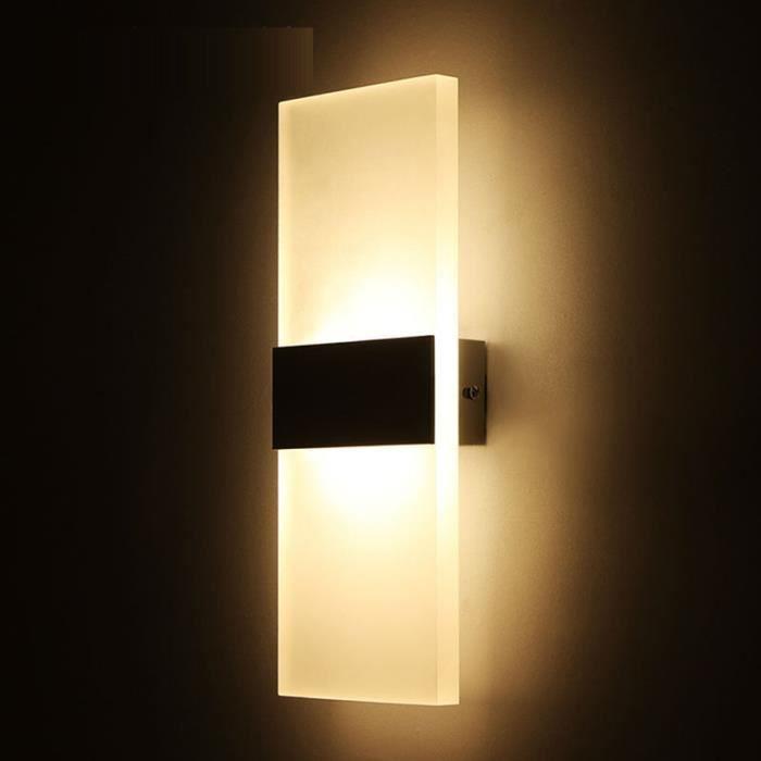 Applique murale LED plafonnier intérieur et extérieur lampe d'éclairage décoration nouveaux produits --- lumière chaude 14 * 6cm