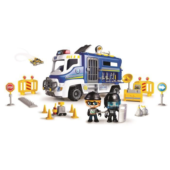 Pinypon Action - Le fourgon de police - 2 figurines incluses