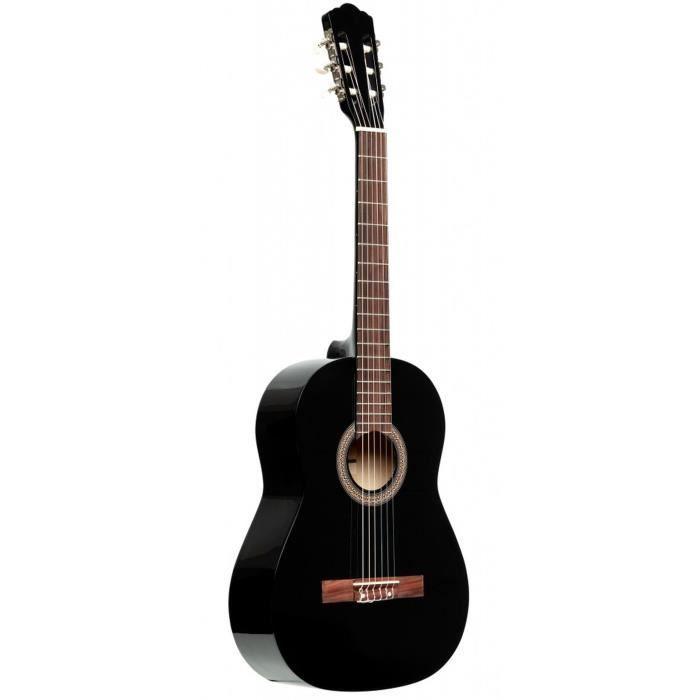 STAGG Pack guitare classique SCL50 4/4 - Noir