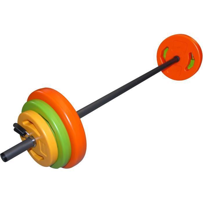TUNTURI Kit barre body pump 20kg orange, vert, jaune