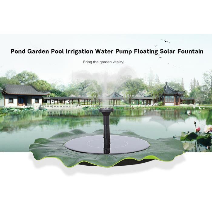 Fontaine solaire flottante de pompe à eau de bassin de jardin d\'étang