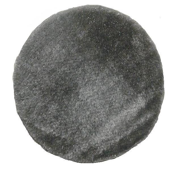 tapis rond dimensions 80 x 80 cm tapis shaggy uni rond de couleur gris achat vente tapis. Black Bedroom Furniture Sets. Home Design Ideas