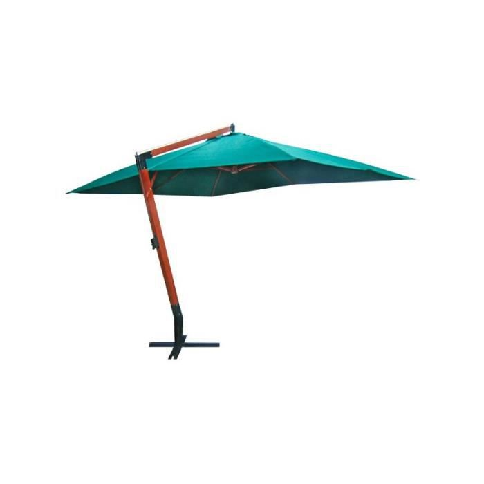 parasol d port vert xxl en bois 3x4m avec pied achat. Black Bedroom Furniture Sets. Home Design Ideas