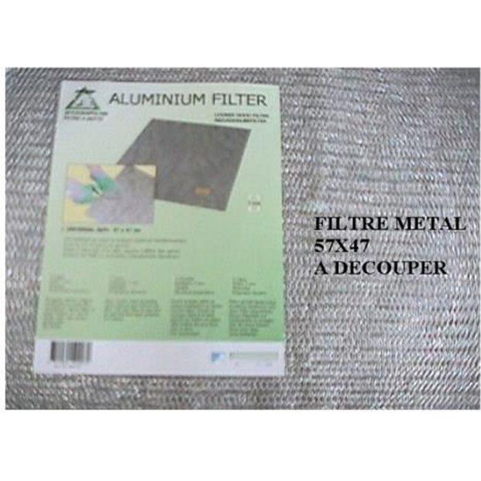 FILTRE POUR HOTTE 22502. Filtre Metallique Universel A Decouper Pour
