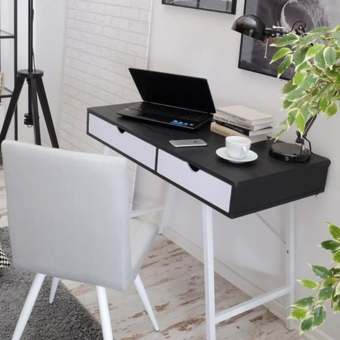falun noir et blanc bureau moderne scandinave achat vente bureau falun noir et blanc bureau. Black Bedroom Furniture Sets. Home Design Ideas