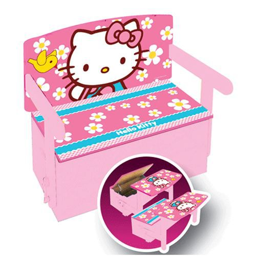 coffre a jouets 3 en 1 hello kitty achat vente. Black Bedroom Furniture Sets. Home Design Ideas