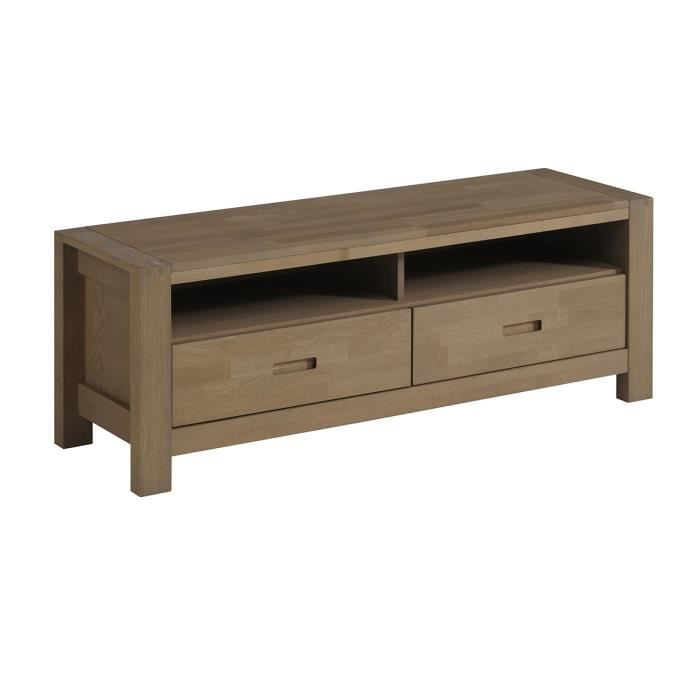 meuble tv ch ne gris oslo meubles bon prix moncornerdeco. Black Bedroom Furniture Sets. Home Design Ideas