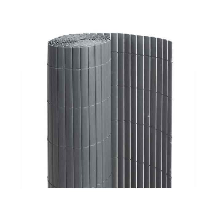 CLÔTURE - GRILLAGE Canisse PVC double face Anthracite 3 m - 1 rouleau