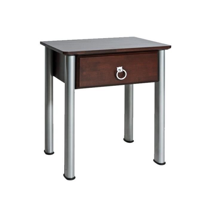Justhome madryt table de nuit table de chevet weng 55 x - Table de chevet wenge ...