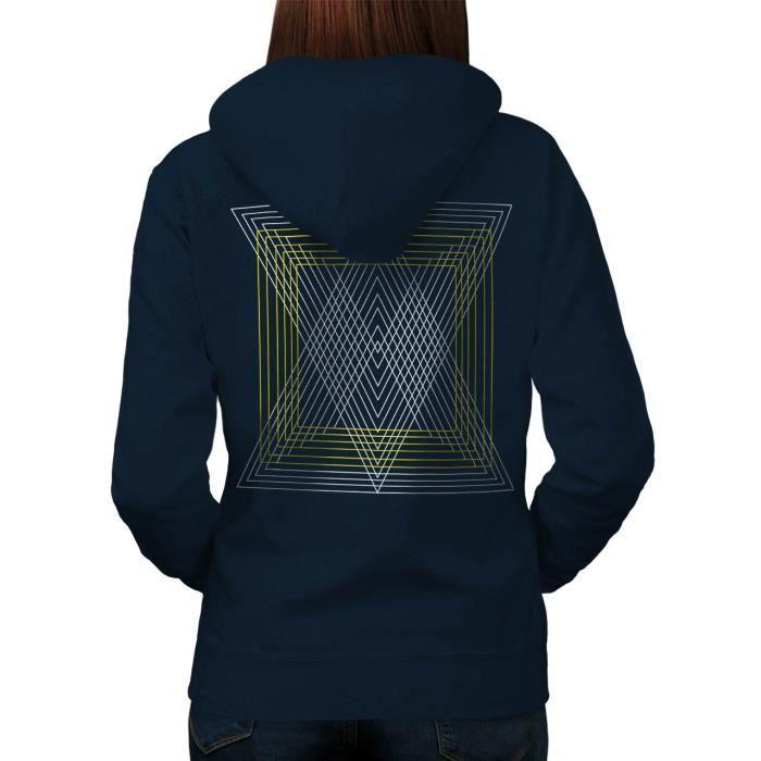 Triangle Élégant Modèle Futuriste Women M Sweat à capuche le dos | Wellcoda