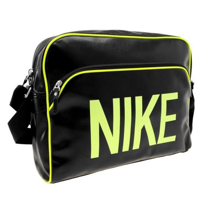 sac nike heritage collector noir et jaune noir noir et jaune achat vente besace sac. Black Bedroom Furniture Sets. Home Design Ideas
