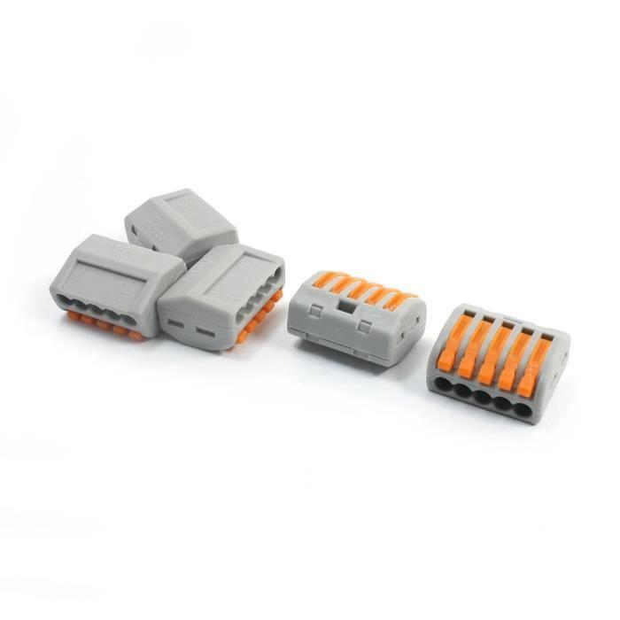 10Pcs AC 250V 32A 2 Circuit Board Port Connecteur Levier Bornier