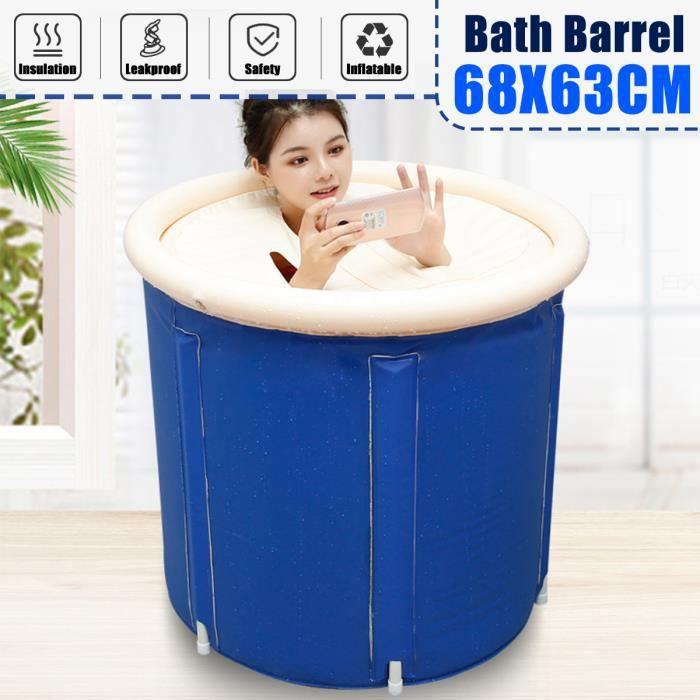 Adulte Bain Barrel Pliable Baignoire Enfants Piscine En Plastique Pliable Baignoire Baignoire,Bleu Accueil Pliant Adulte Baignoire