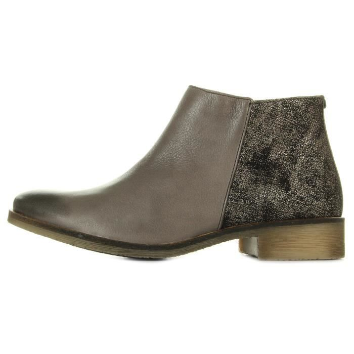Baskets Kickers Lower Cuir Gris