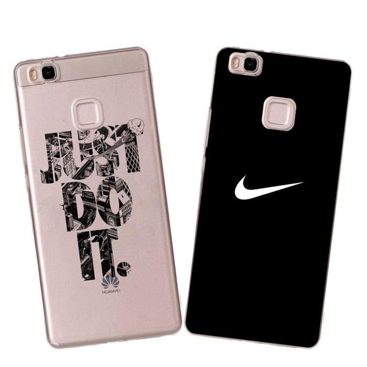 2 X Coque Huawei P9 Lite, Nike Doux Souple TPU Silicone Housse ...