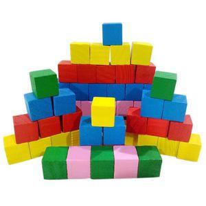 ASSEMBLAGE CONSTRUCTION Lot de 81 Pièces 2cm Cubes en Bois Jeu de Construc