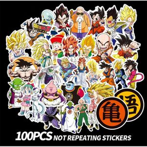 STICKERS (100 Pièces)Dragon Ball Stickers. Skateboard Snowb