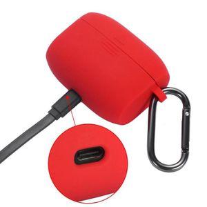CASQUE - ÉCOUTEURS Housse de protection en silicone Rouge portable av
