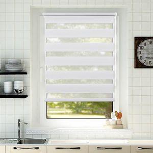 Easy Fix OBdeco Double Store Enrouleur Jour//Nuit sans per/çage 60 x 180 cm Blanc