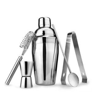 SHAKER - SET COCKTAIL  5Pcs - Set mélangeur outil barman en acier inoxyda