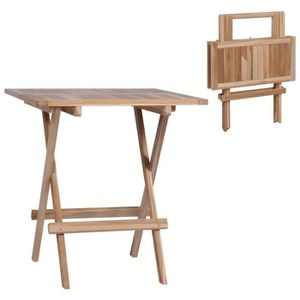 Table de jardin ou de balcon pliable - 2 places - Métal ...