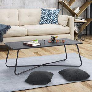 TABLE BASSE Table Basse Salon Design Industriel Plateau Finiti