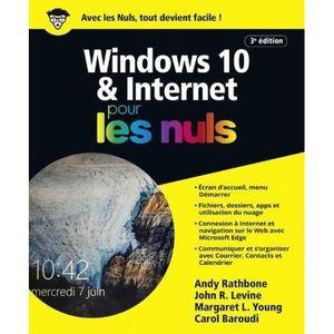 LIVRE TVCOMMUNICATION Livre - Windows 10 & internet pour les nuls (3e éd