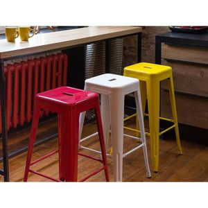 tabouret de bar jaune achat vente tabouret de bar jaune pas cher cdiscount. Black Bedroom Furniture Sets. Home Design Ideas