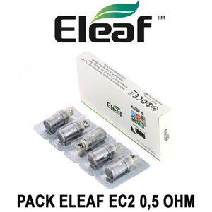 ATOMISEUR E-CIGARETTE 5 Résistances ELEAF EC2 0,5 Ohm pour clearomiseur