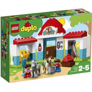 ASSEMBLAGE CONSTRUCTION LEGO® DUPLO® Ma ville 10868 Le poney-club de la fe