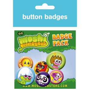 BADGES - PIN'S Moshi Monsters : Moshlings Set de badges 10 x 15 c