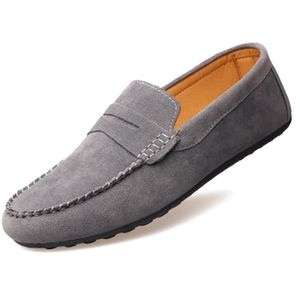 Mocassins hommes solides simples Vintage respirant Stylish Comfort Souliers simple 8187366 vgkgo