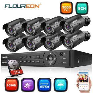 CAMÉRA DE SURVEILLANCE Kit de Caméras de Surveillance FLOUREON - 1 X 8CH