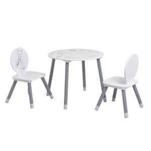 TABLE À MANGER COMPLÈTE Set table + 2 chaises HONEY en panneaux de particu
