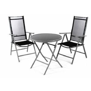 Table pliante en verre