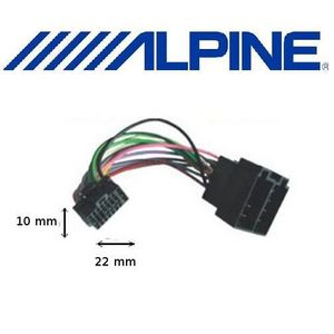 INSTALLATION AUTORADIO Cable adaptateur ISO Alpine pour CDE-9845RB CDE-98