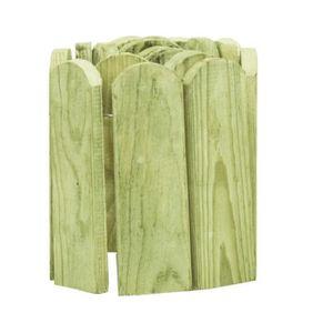 BORDURE Rouleau de bordure Vert 120 cm Bois de pin imprégn