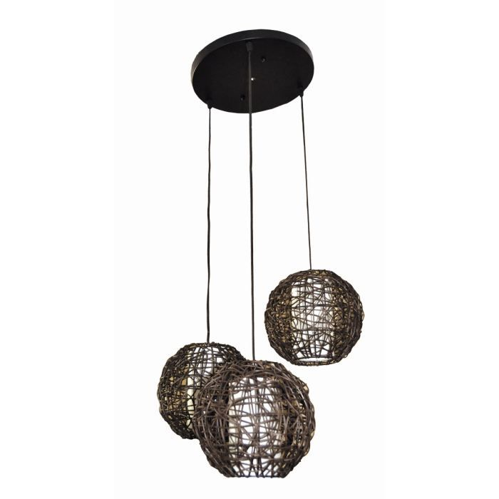 lustre suspension nudos 3 boules 20 cm avec diffuseur. Black Bedroom Furniture Sets. Home Design Ideas