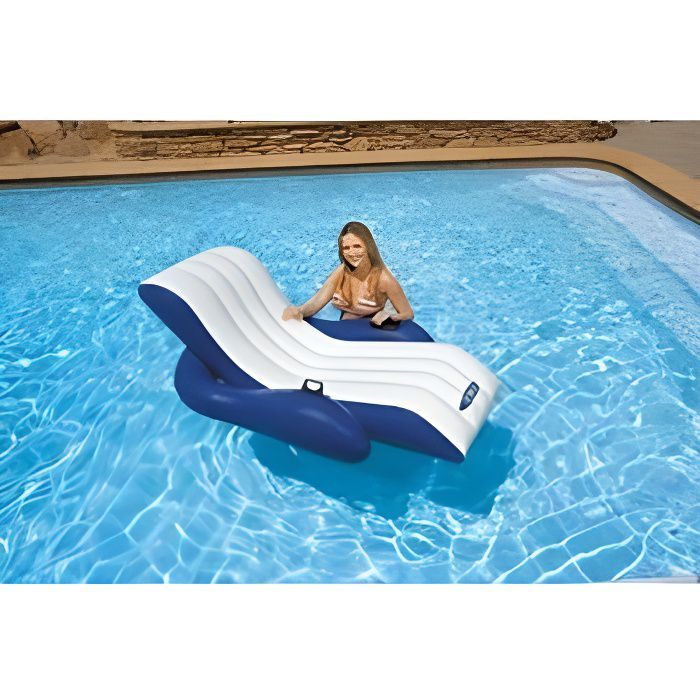 Chaise longue de piscine luxe intex achat vente for Chaise pour piscine