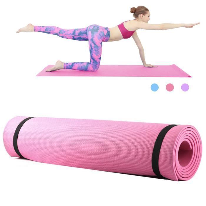6mm d'épaisseur EVA mousse Yoga tapis antidérapant Yoga Pilates exercice Fitness tapis 68X24 pouces-88