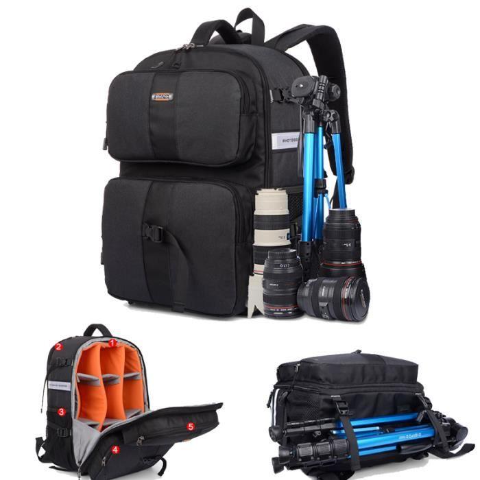 noir sac a dos appareil photo imperméable pour canon pour nikon. sac de voyage. sac a dos reflex .sac photo bandoulière.