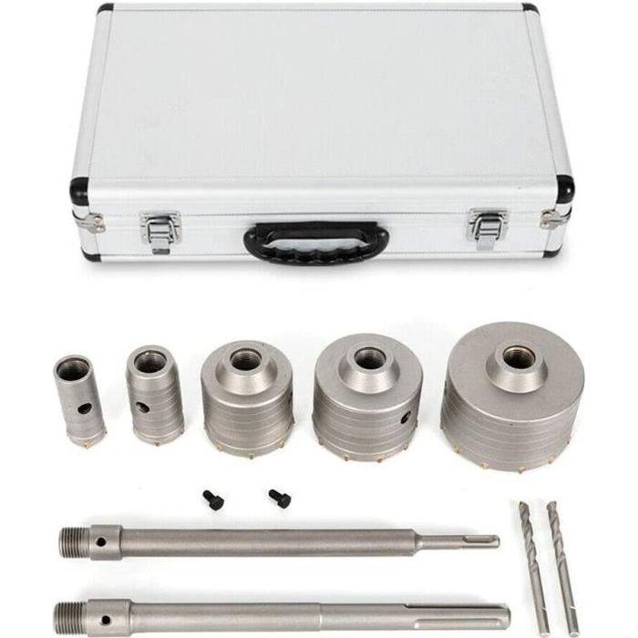 Forets à béton Foret de scie trépan 30/40/68/80/100 mm et SDS-Plus adaptateur