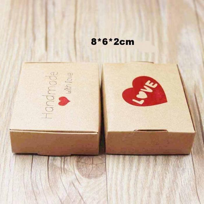 Version box as pic - Feiluan Personnalisé Multi Styles Cadeau-Bonbons-Boîte D'Emballage Bricolage À La Main Avec Amour Carton