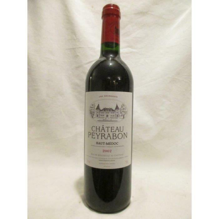 haut-médoc château peyrabon cru bourgeois rouge 2002 - bordeaux