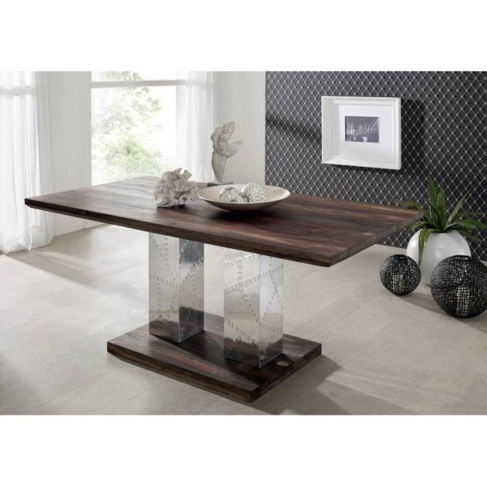 Table à manger 200x100cm - Bois massif de palissandre huilé - PURE SHEESHAM #422